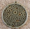Cercle fleuri bronze, diamètre de 30mm