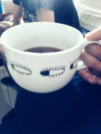 My cup is not only humongous - it has eyes everywhere!