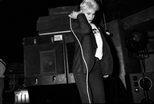 young punk girl dancing