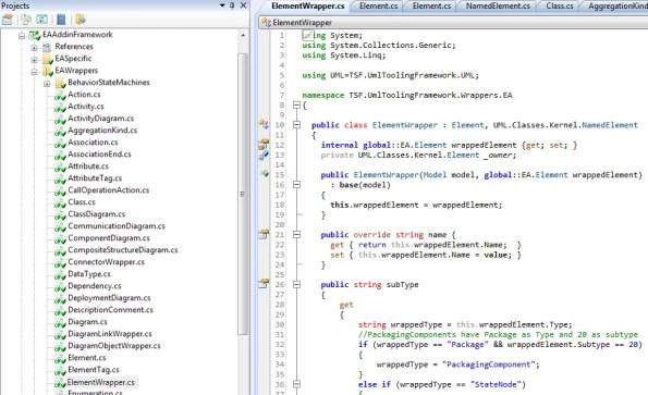 EA Addin Framework Code