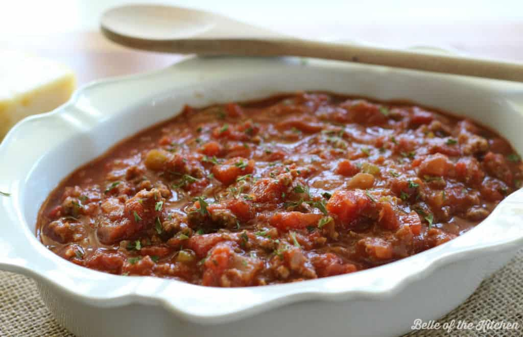 Best Ever Homemade Spaghetti Sauce   Belle of the Kitchen