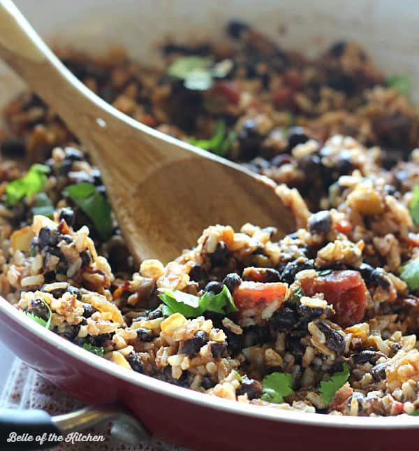 These Black Bean Stuffed Peppers are filled with rice, black beans, onions, and Mexican spices. They are low carb, gluten free, and make make a delicious meatless meal!