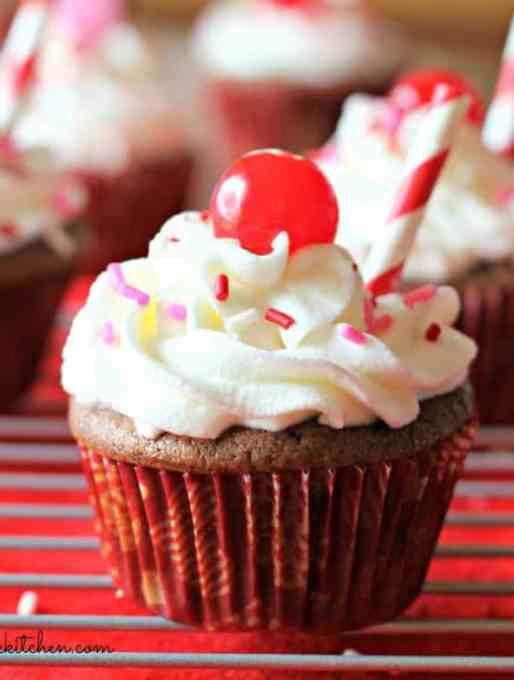 Cherry Coke Float Cupcakes Recipe