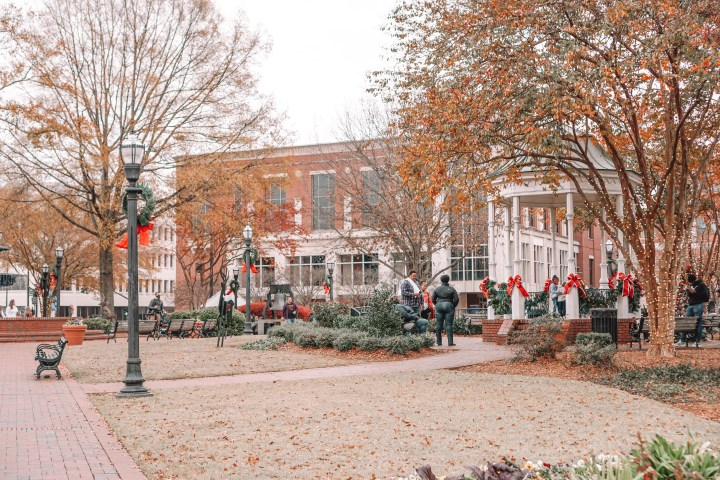 The Best Christmas Small Towns Outside of Atlanta, Georgia: Marietta town square