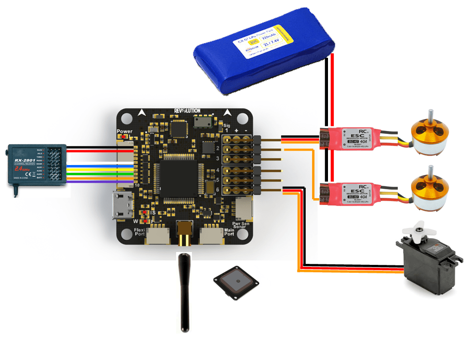 CC3D ESC wireing
