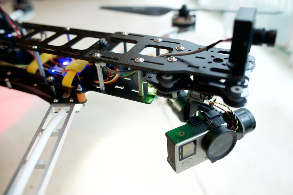 QAV500 with DSY GoPro 3 axis gimbal