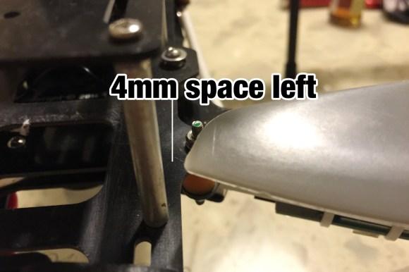 """QAV500 v2 mounting 13"""" props 4mm space left"""