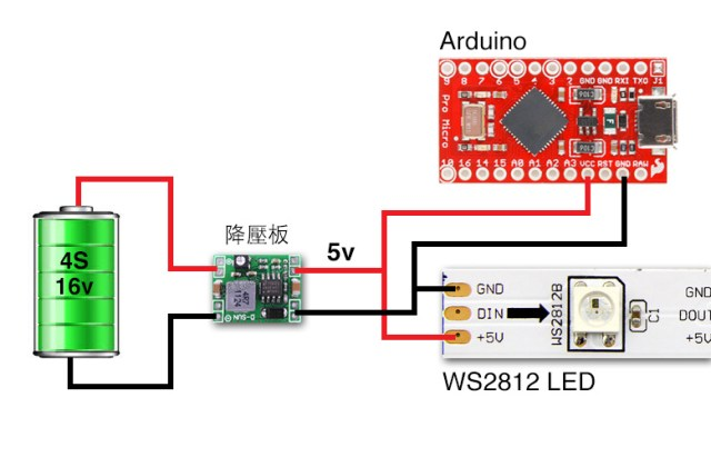 How to wire WS2812 LED and Arduino