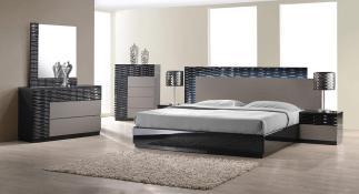 Modern Textured Bedroom Set-BF961-Onda