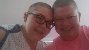 Dani and Shonda chemo haircut