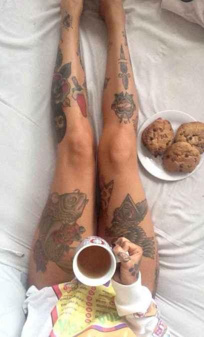 14 Most Popular Leg Tattoos Ideas for Women