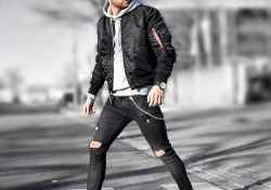 17 Men Outfit Ideas With Bomber Jacket