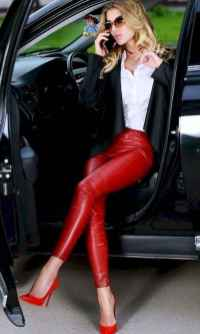 18 Cool Girls WaysTo Wear Leather Legging