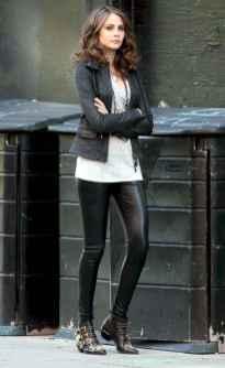 19 Cool Girls WaysTo Wear Leather Legging