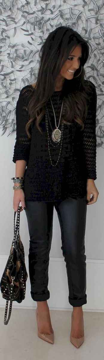 21 Chic All Black Outfit