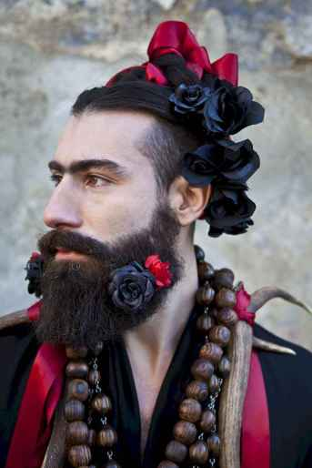 22 Most Elaborate Flower Beard Ideas