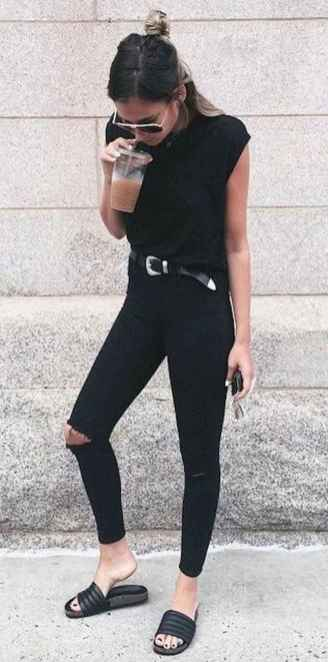 25 Chic All Black Outfit