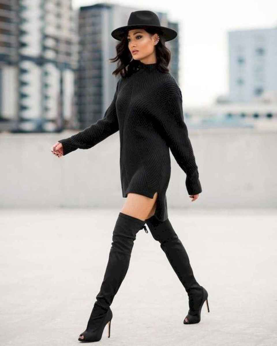 28 Chic All Black Outfit