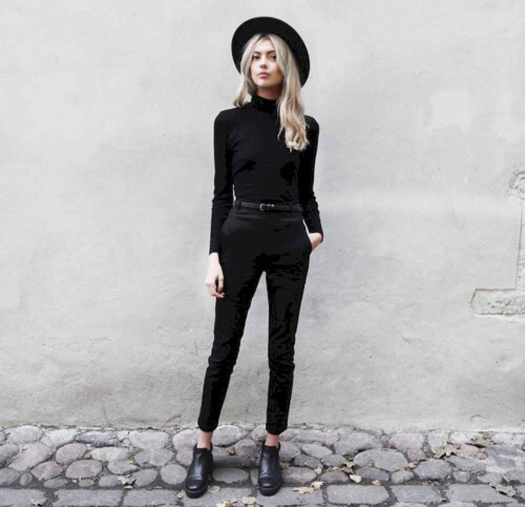 29 Chic All Black Outfit
