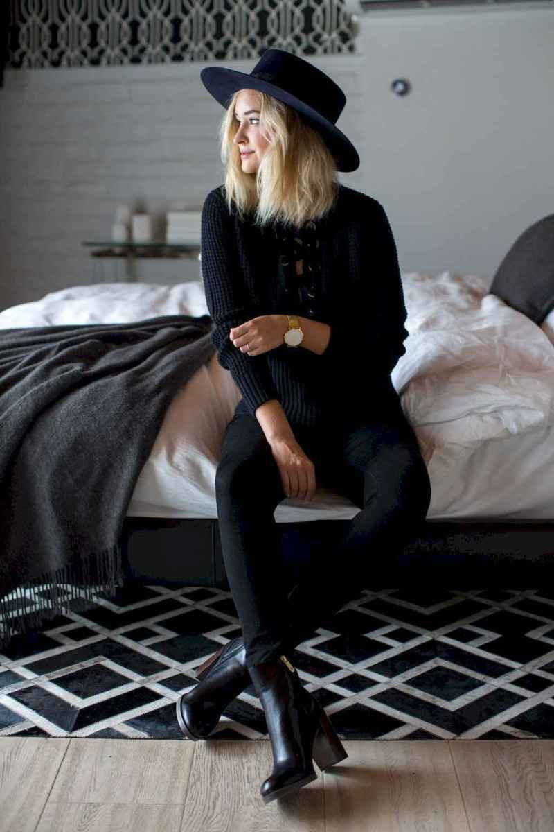47 Chic All Black Outfit