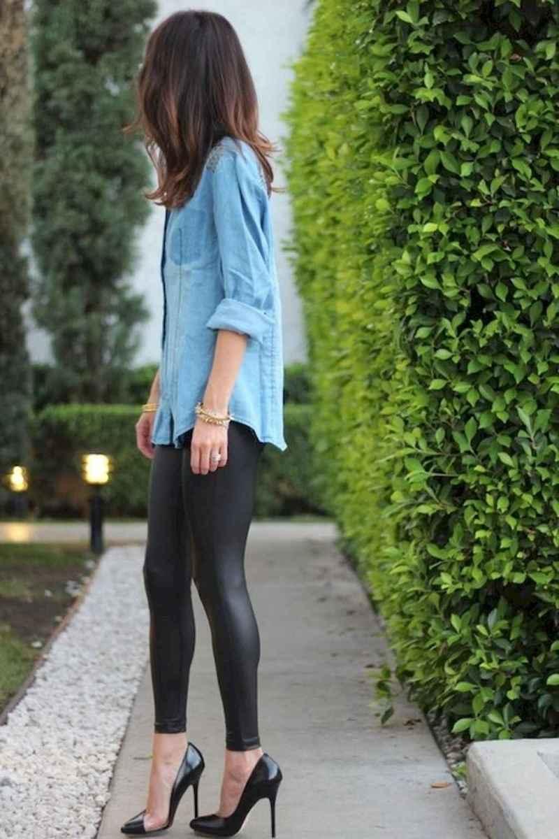 47 Cool Girls WaysTo Wear Leather Legging