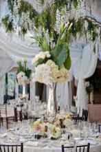 01 Romantic White Flower Centerpiece Decor Ideas