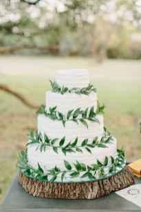 05 Green Wedding Cake Inspiration with Classy Design