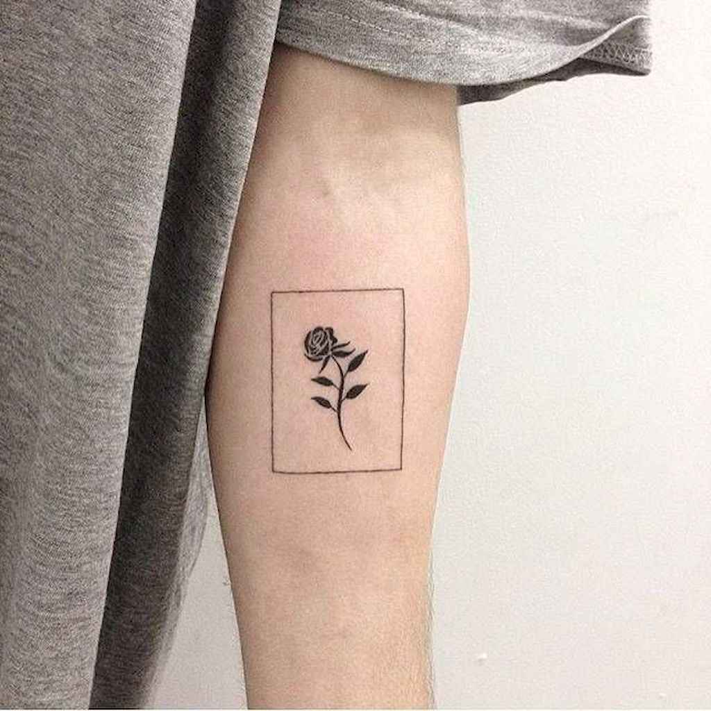 05 Traditional Rose Outline Tattoo Designs Ideas