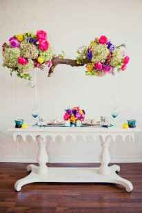 07 Rustic Wedding Suspended Flowers Decor Ideas