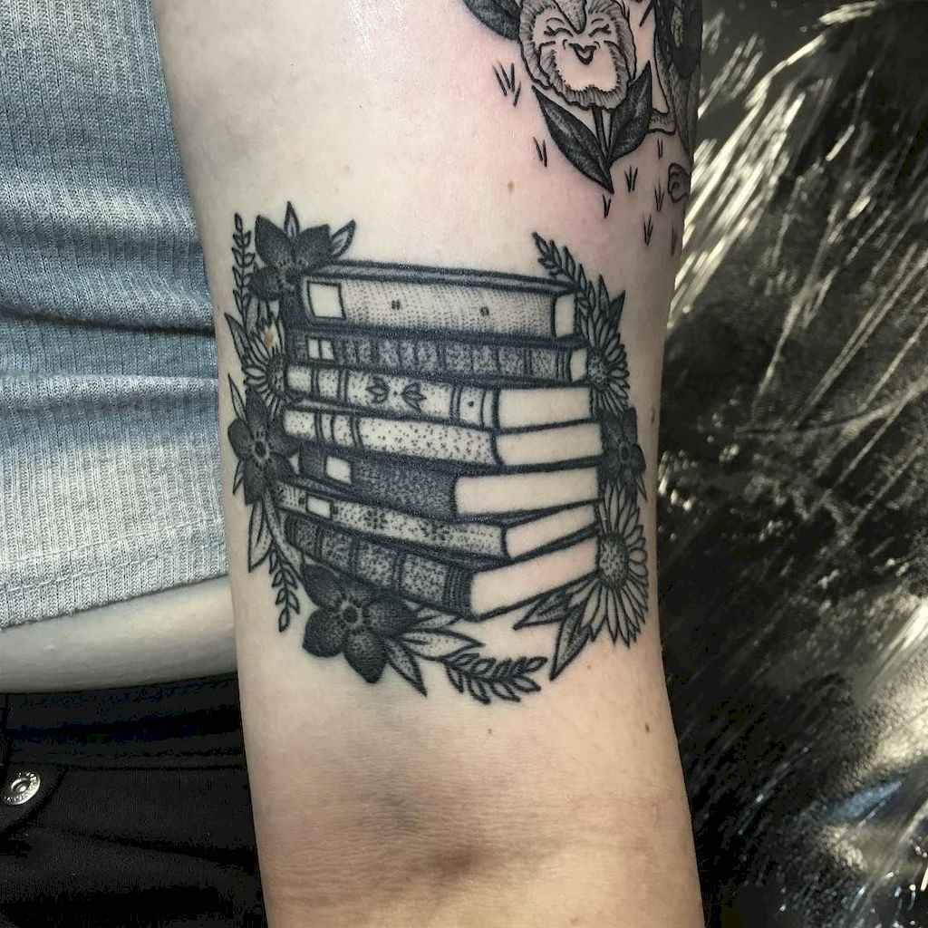 14 Awesome Book Tattoo Designs Ideas For Bookworms