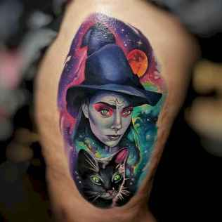 15 Beautiful Witch Tattoo Designs Ideas