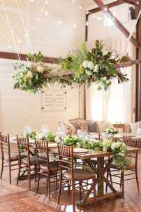 25 Rustic Wedding Suspended Flowers Decor Ideas