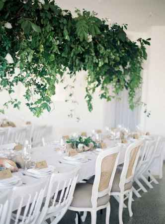 31 Rustic Wedding Suspended Flowers Decor Ideas