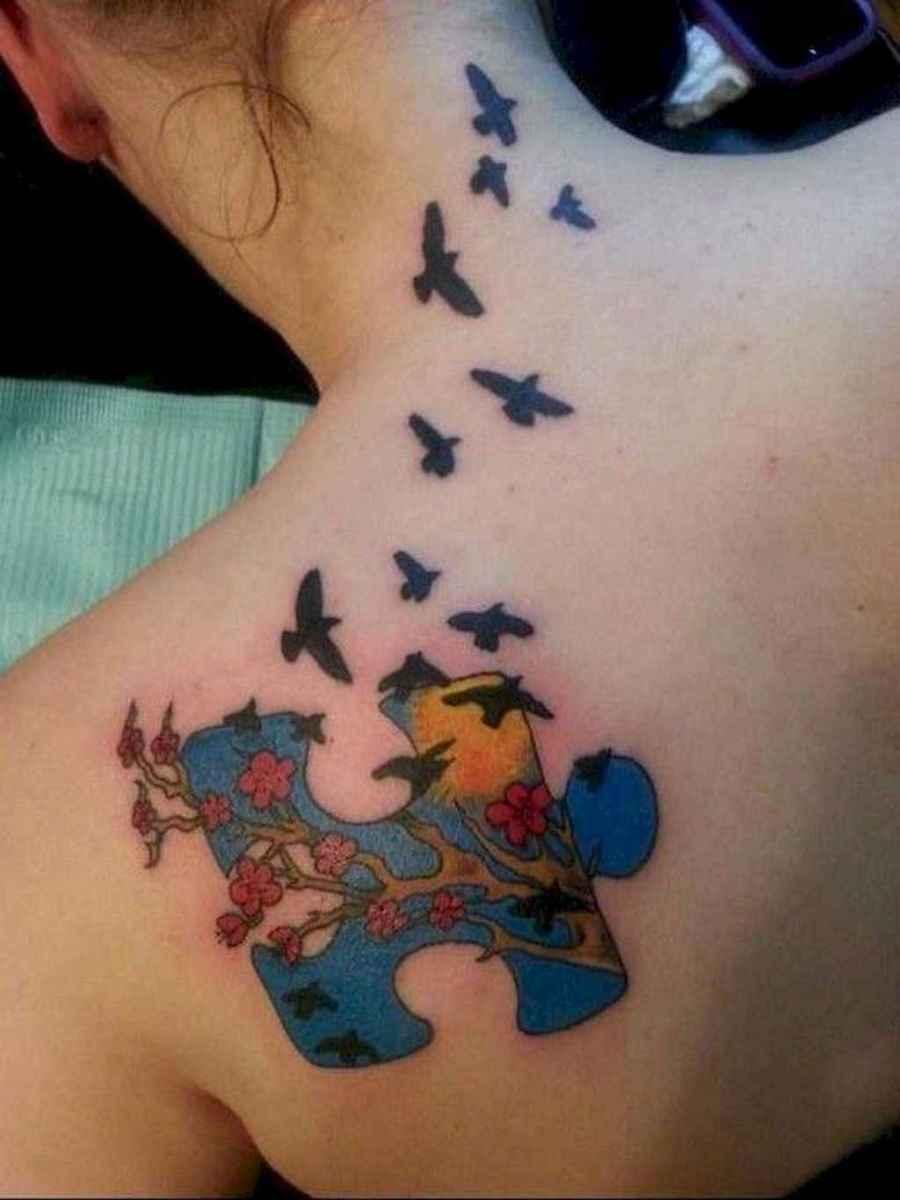 42 Coolest Puzzle Piece Autism Tattoos Art Ideas