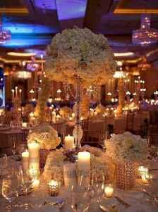 44 Romantic White Flower Centerpiece Decor Ideas