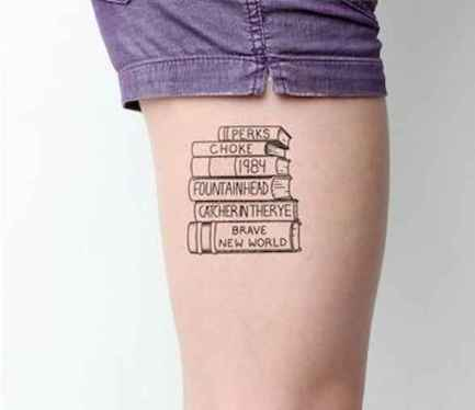 47 Awesome Book Tattoo Designs Ideas For Bookworms