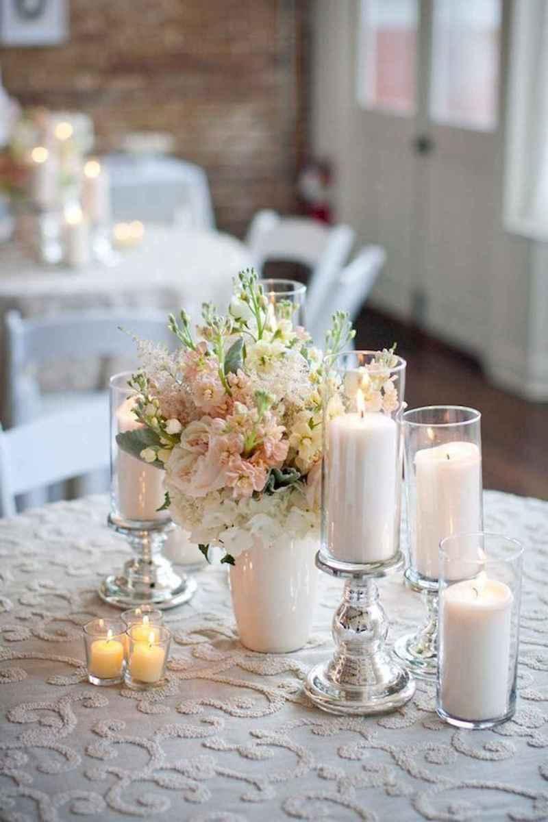 64 Romantic White Flower Centerpiece Decor Ideas