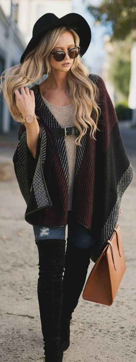 01 Trending Winter Outfits Oversized Poncho Outfit Ideas