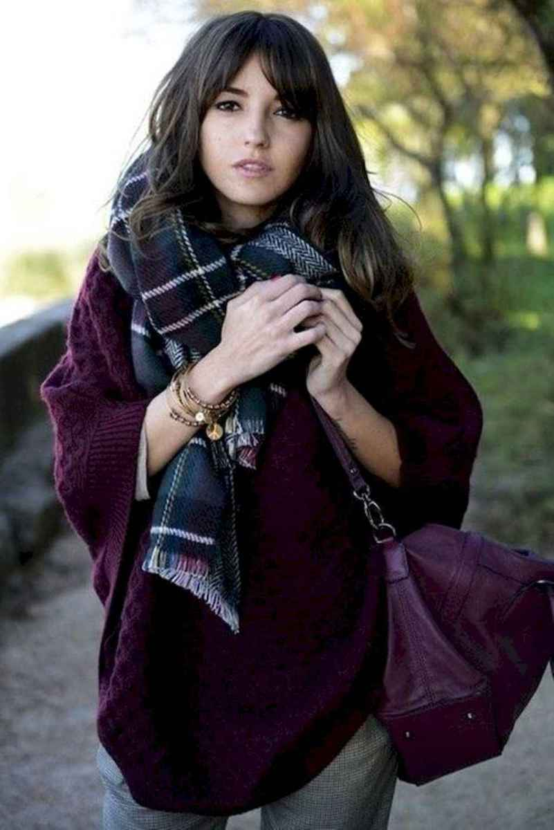 06 Trending Winter Outfits Oversized Poncho Outfit Ideas