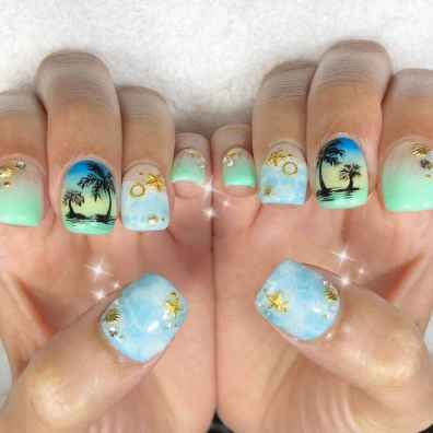 11 Special Summer Beach Nails Designs for Exceptional Look