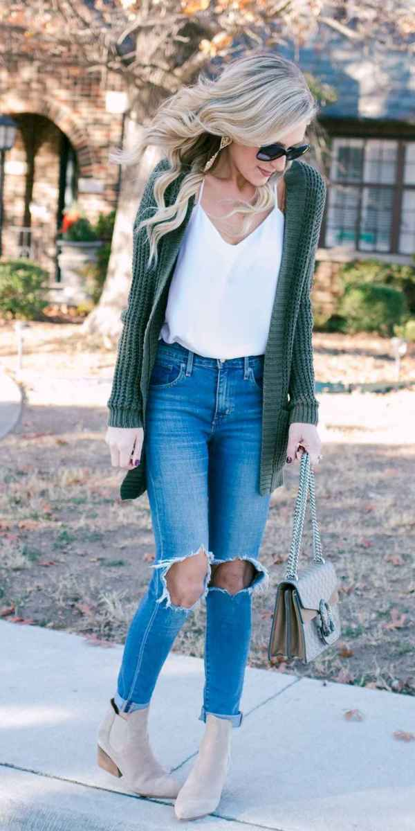 18 Beautiful Fall Outfits Ideas With Cardigan