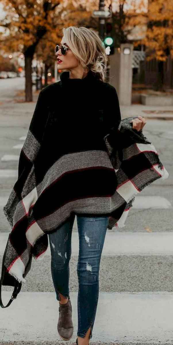21 Trending Winter Outfits Oversized Poncho Outfit Ideas