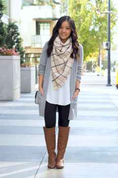 30 Beautiful Fall Outfits Ideas With Cardigan