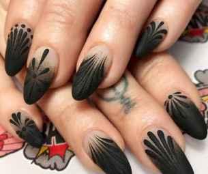 30 Elegant Black Nail Art Designs that You'll Love