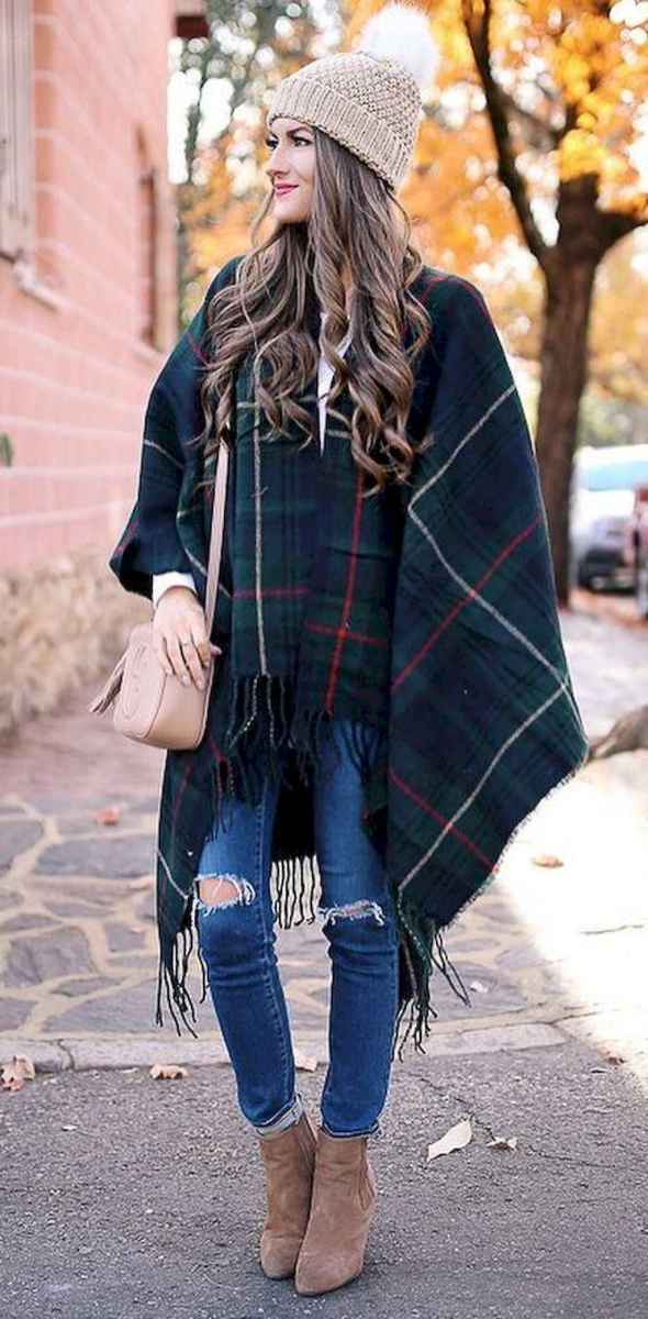 30 Trending Winter Outfits Oversized Poncho Outfit Ideas
