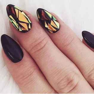 33 Elegant Black Nail Art Designs that You'll Love
