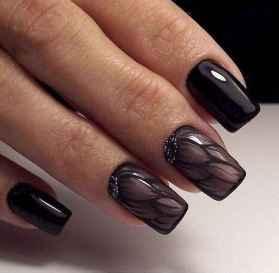47 Elegant Black Nail Art Designs that You'll Love