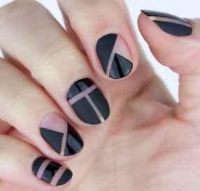 55 Elegant Black Nail Art Designs that You'll Love