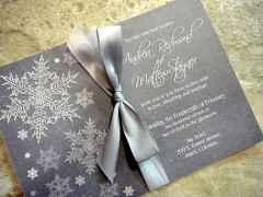 04 Elegant Christmas Wedding Invitations Ideas