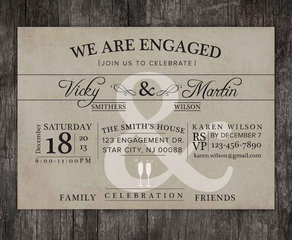 09 Inexpensive Engagement Party Invitations Ideas